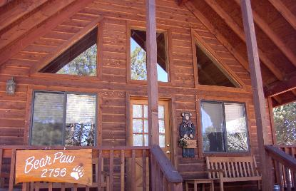 Bear Paw cabin in Mogollon Resort Cabins across from Bison Town and Bison Ranch.  Want to own your own cabin like this that helps pay for itself?  Kent is a Real estate Agent and is glad to help you achieve your Real Estate dreams in Heber Overgaard, Arizona